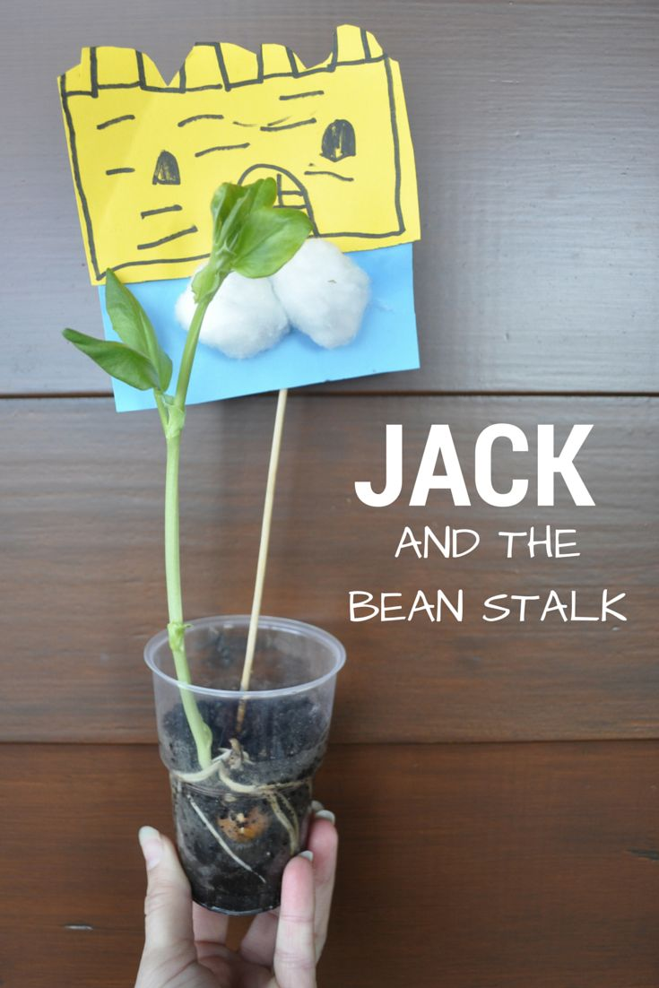Gardening with Kids - Love this Jack and the Bean Stalk activity for preschool and kindergarten. You can target lots of spring vocabulary while teaching this fairytale!