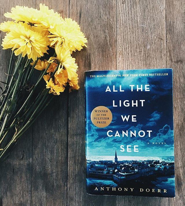 """Just started reading """"All The Light We Cannot See"""" by Anthony Doerr and can't put it down!"""