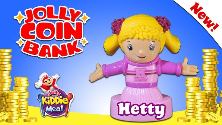 JOLLY COIN BANK - Jolly Kiddie Meal - HETTY - Jollitown Friends - Hershe...