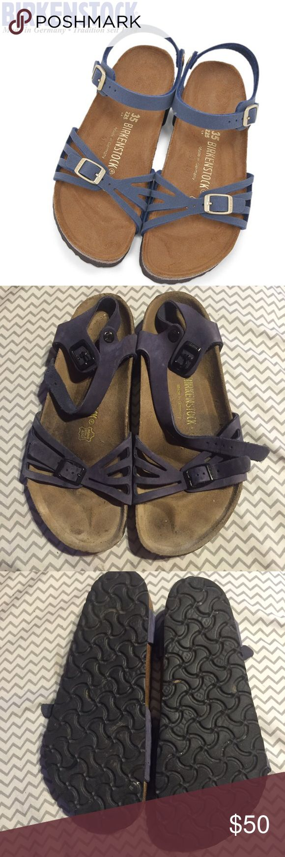 Birkenstock Bali navy blue sandals✨ Navy Blue Color   sz 39   very cute style w/ a strap   gently used Birkenstock Shoes Sandals