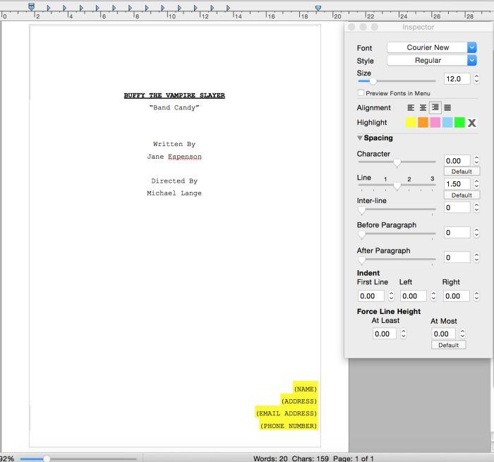 writing how screenplay