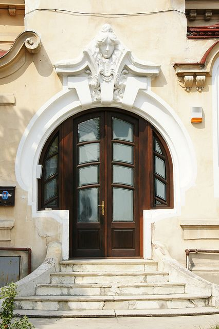 Beautiful doors to this building in Bucharest, Romania   ..rh
