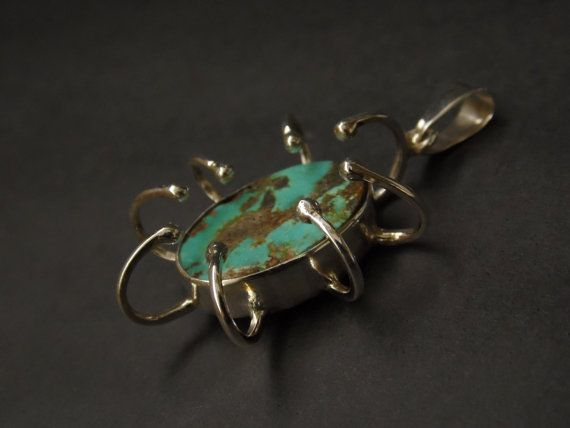 Turquoise pendant by JewellByMe on Etsy