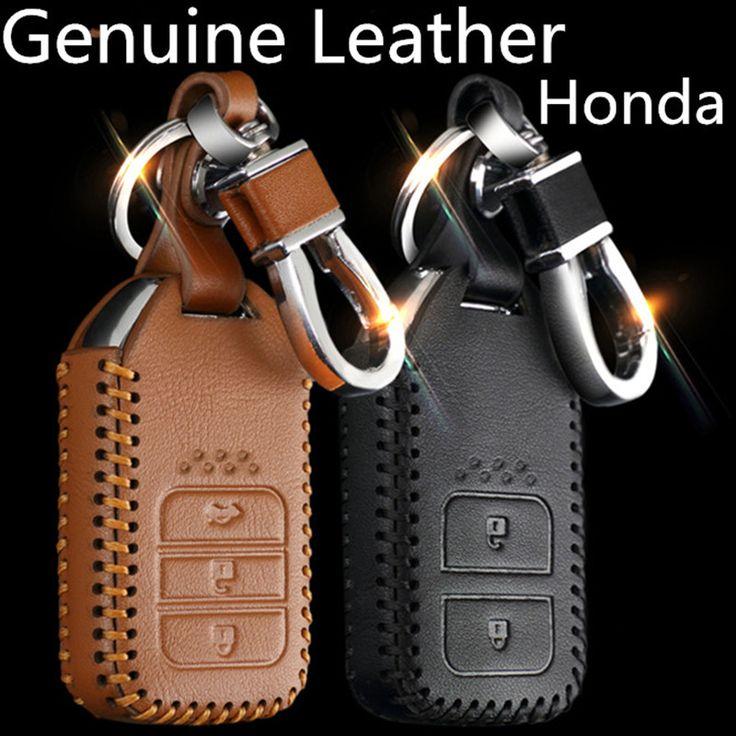 Fashion Men And Women's Car Genuine Leather Key Case cover KeyChain for Honda CRV FIT XRV CRIDER  VEZEL  JADE SPIRIOR 9 Accord