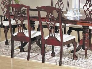 Contemporary Chippendale Side Chairs Set Of Two Acme FurnitureDining Room ChairsDining TableDining RoomsQueen Anne