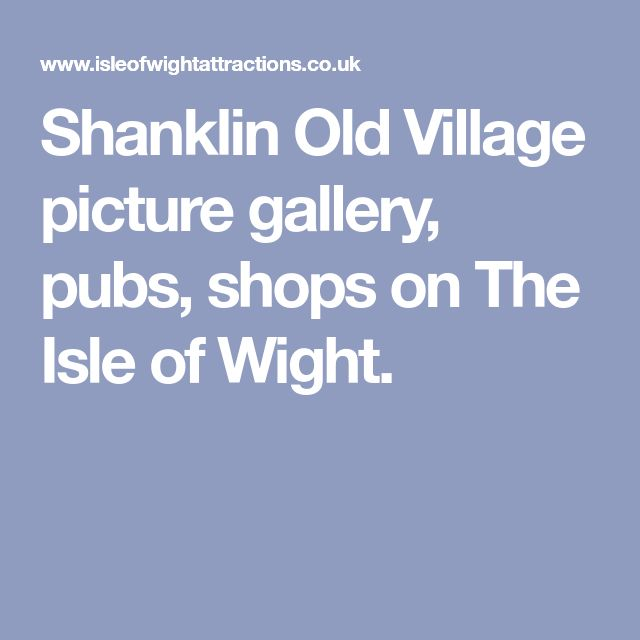 Shanklin Old Village picture gallery, pubs, shops on The Isle of Wight.
