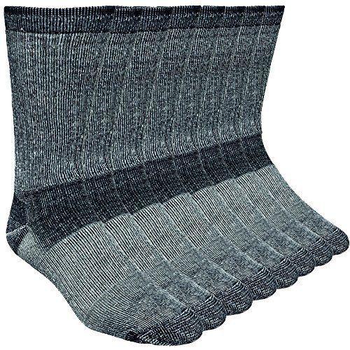 4 Pack Merino Wool Hiking Socks Winter Warm Socks Made In The USA -Black (Large) #AY #Doesnotapply