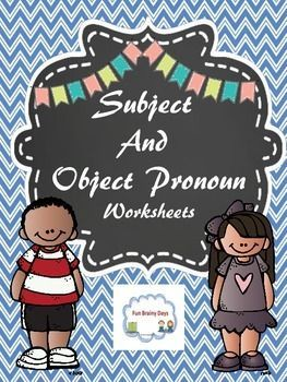 Great for review of Subject and Object Pronoun  Just print and go    3 00