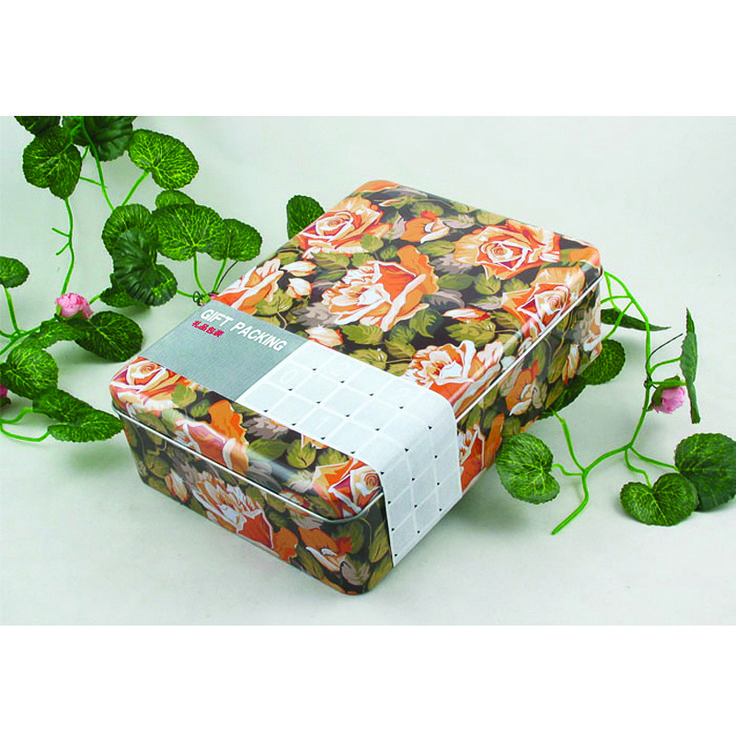 This gift tin answer the green packing concept in the new century as it is made of the eco-friendly material-the first grade tinplate.