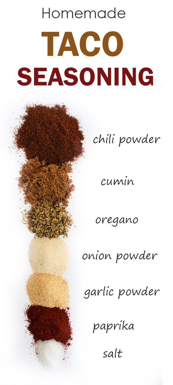 Our favorite DIY homemade taco seasoning! Great way to save money and control the ingredients - just make a large batch and store in an airtight container to have on hand!
