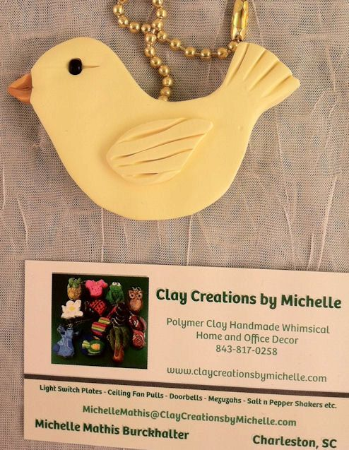Canary Yellow Bird Ceiling Fan Pull by MichelleMathis on Etsy