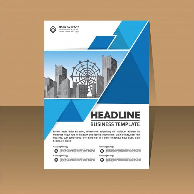 Flyer Brochure Template Layout Cover Design Annual Report ビジネス