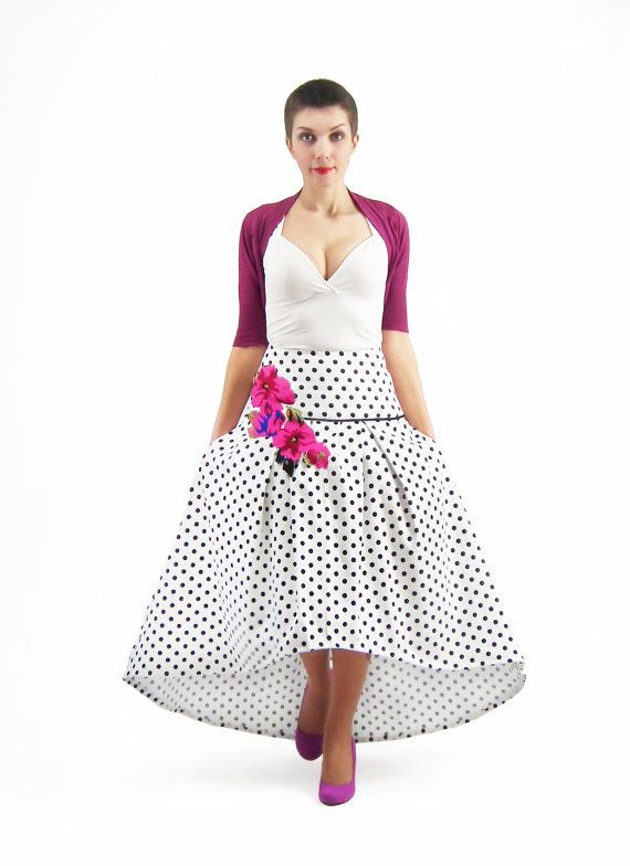 Maxi Skirt Bridesmaid Skirt High Low Skirt Circle от FatBerry