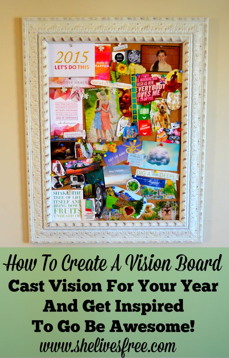 How to Create a Vision Board!  Cast Vision for Your Year and Get Inspired to Go Be Awesome!