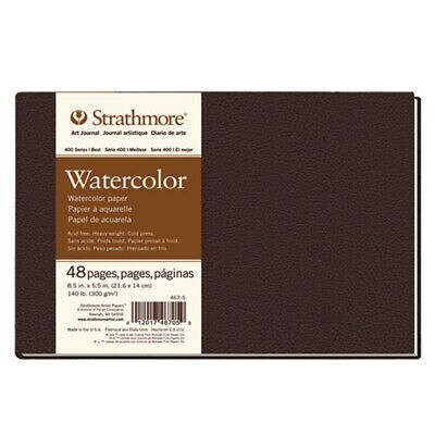 Strathmore Hardbound Journal 400 Series Watercolor Paper 140lb 8 5