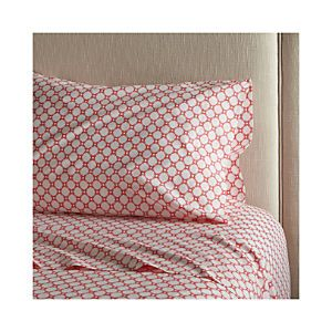 Genevieve Coral Extra-Long Twin Sheet Set