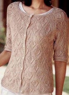 Ljeto jakna iglice s lista uzorak.  Ženski žbice jakna ažur uzorak |  U ponudi za cijelu obitelj.
