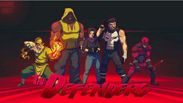 The Defenders Animated TV Show #Defenders #netflix #daredevil #ironfist #jessicajones #lukecage #punisher