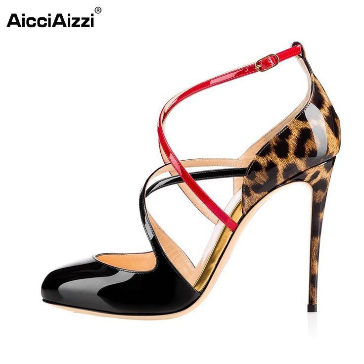 Nouveau Sandales Des chaussures à talons hauts Femme Chaussure-Cross-weave. AGZuO
