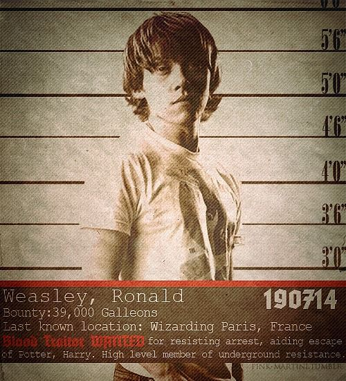 Wanted : Ron Weasley