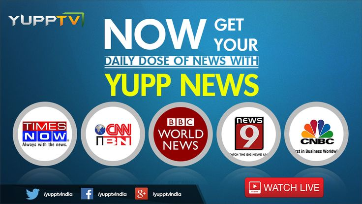 Watch All English tv channel live streaming here at Yupptv India. And also you can catch latest English news and Programmes as well with Best Digital Quality without buffering. Watch and Enjoy.