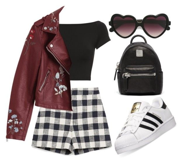 """Black & Wine"" by liaperezmorales on Polyvore featuring adidas, Helmut Lang, Cutler and Gross and MCM"