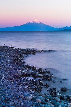Osorno Volcano (Volcan Osorno) and Llanquihue Lake, Puerto Varas, Chile Lake District