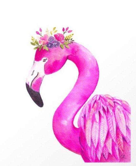 photograph regarding Flamingo Printable referred to as Flamingo printable - flower crown Flamingo - flamingo print