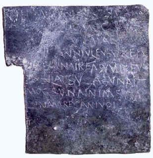 """This is one of the so-called """"tabellae defixionum"""", curse tablets used in antiquity. According to Dr. Ana Ma. Vázquez (UNED), some people performed these spells under the protection of some deity to harm another person or to obtain a specific favor. Probably this table was made with lead.  The image is not copyrighted, however it illustrates the work available at the following link: http://www2.uned.es/geo-1 -history-ancient-universal / MAGIC / TABELLAE / tabellae1_defixionum.htm"""