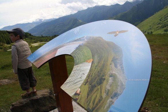 La table d'orientation au Col du Soulor.