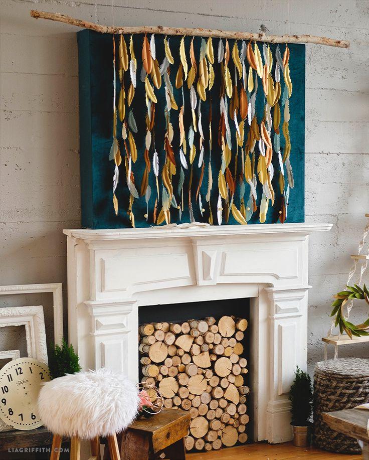 DIY Feather backdrop