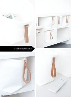 DIY Storage with Leather Handles