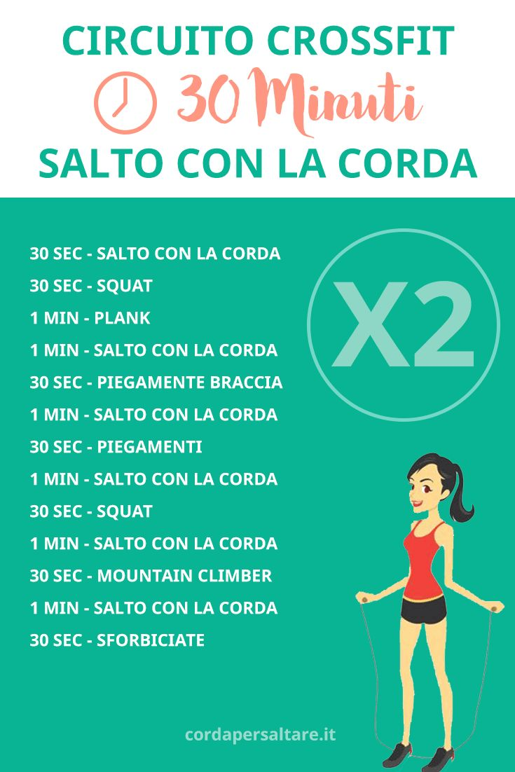 Circuito Crossfit di 30 minuti - Salto con la Corda. #fitness #crossfit #weight #loss #dieta #peso #corda #saltare #jump #rope