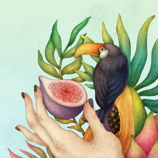 Tropical Dreams, details. Olga Svart Illustration