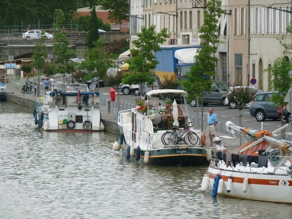 Le canal du midi à Castelnaudary