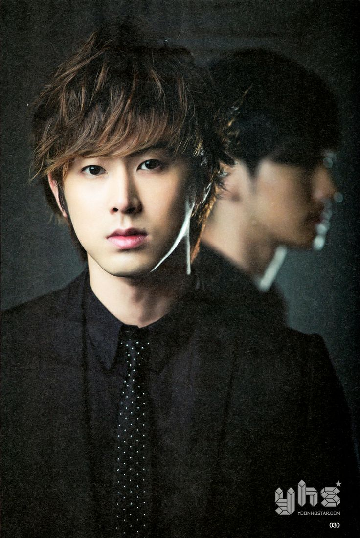 Yunho! With a mysterious side profile of Changmin in the background.