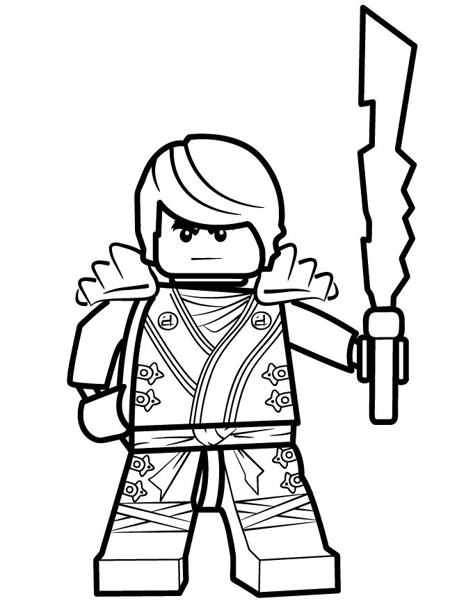 Lego Ninja Coloring Pages #8
