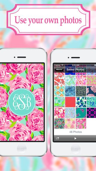 Monogram - Wallpaper & Backgrounds Maker HD DIY with Glitter Themes by Yellow Lab, Inc.