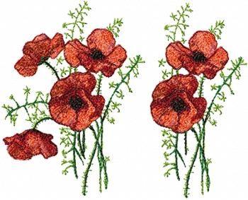 Advanced Embroidery Designs - Poppy Set