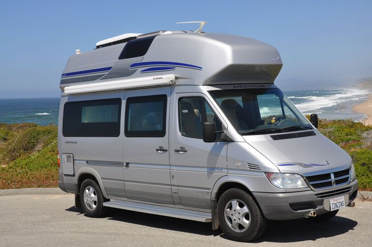 Airstream Sprinter Westfalia camper on the California coast - there were only 250 imported into the US.
