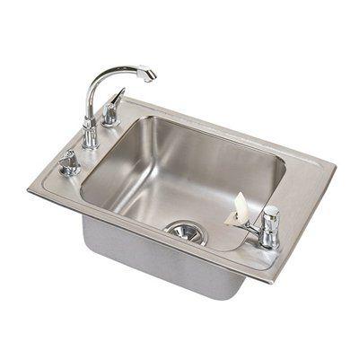 Elkay DRKAD2517400 Lustertone Single Bowl Classroom Commercial Sink
