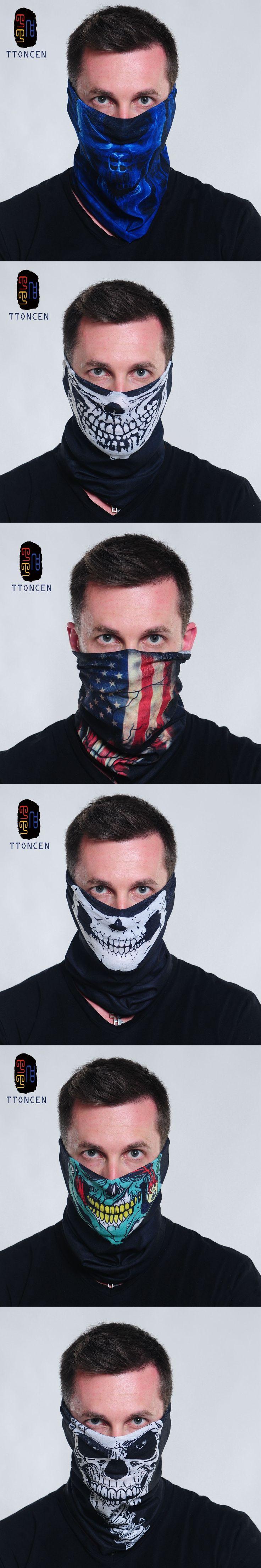 Newest winter Bandana Half skull bandana mask cool Headwear Wrap Scarf  Cap Ciclismo Bike Seamless Motorcycle Bandana