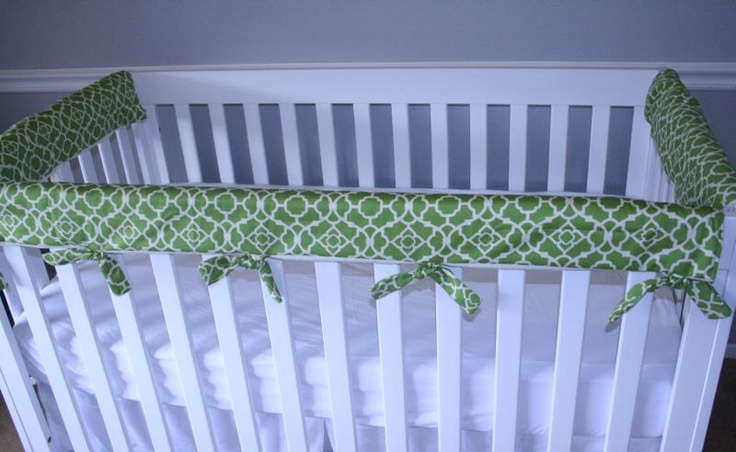Padded Cloth Crib Rail Protector Cover Teething Guard