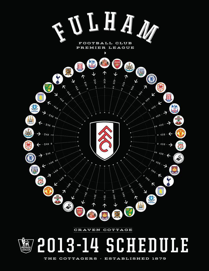 Fulham 2013-14 Premier League Schedule