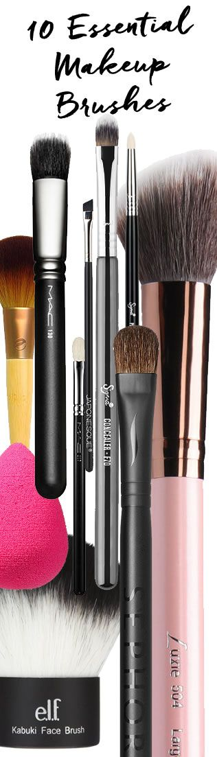 Beauty addicts know there's always room for more, but these are the ten essential #makeupbrushes you need to start your collection! http://blog.pampadour.com/10-essential-makeup-brushes/  #beautytools #beautyproducts #brush #makeupbrush