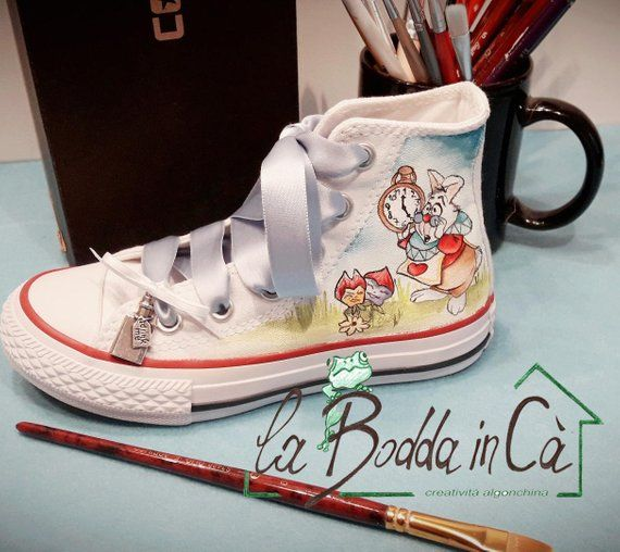 Hand painted canvas shoes All Star Converse Custom