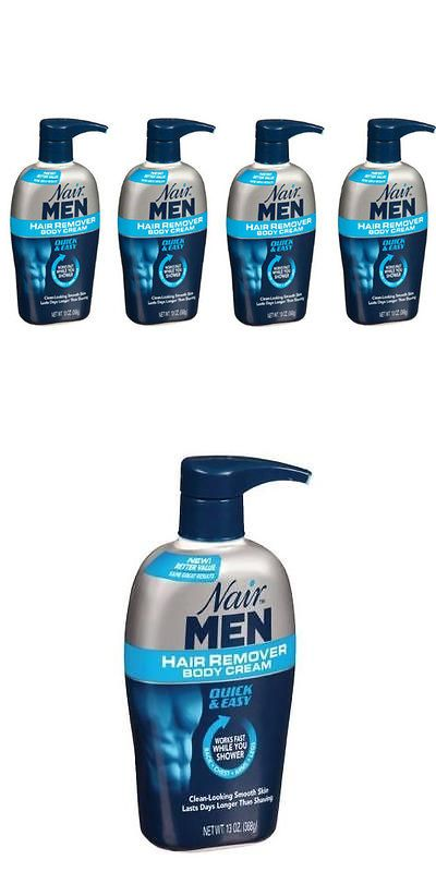 Hair Removal Creams and Sprays: 4 Pack - Nair Men Hair Removal Body Cream 13 Oz (368 G) Each BUY IT NOW ONLY: $41.29