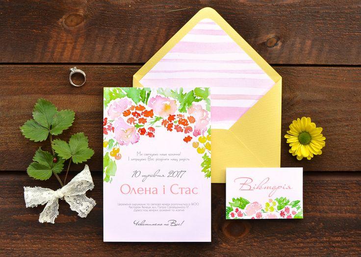 """Коллекция свадебной полиграфии """"Майский сад"""" идеальна как для весенней, так и для летней свадьбы"""