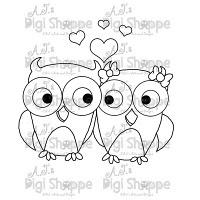 $3.00 Love Owls Digital Stamp from A.J.'s Digi Shoppe™