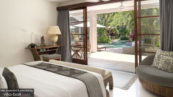 TIKI Bedroom by Canela Bali.  Tiki wooden bed, desk and armchair with fully detachable covers to facilitate the washing.  Get your own on https://www.canelabali.com/canelabalibedroom
